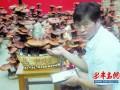 山东:小窑村村民陈维军大棚养出盆景灵芝(图)