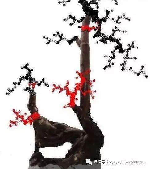 我制作的雀梅下山桩设计图