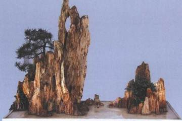 制作山水盆景的加工造型与摆件点缀
