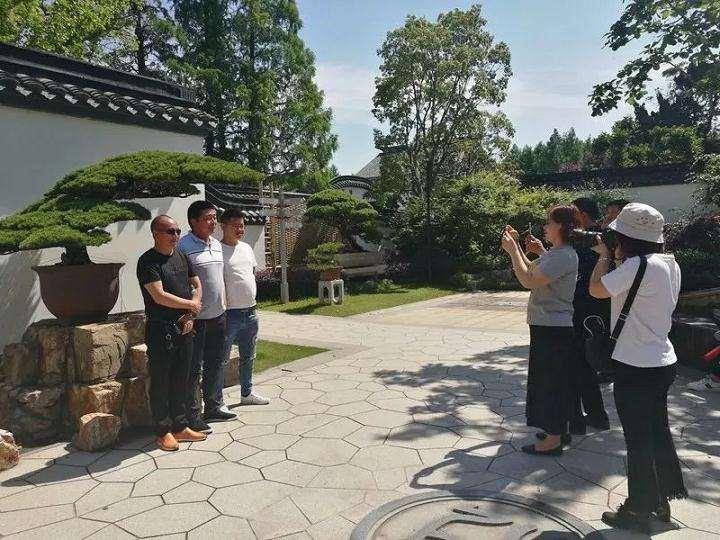 如皋市花木盆景联合会参观上海植物园盆景园