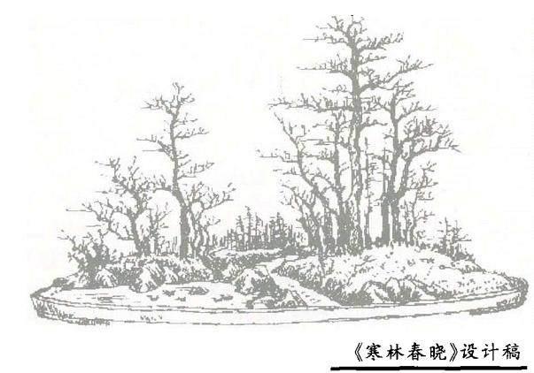 曾宪烨对山水盆景《寒林春晓》的修改意见「图」