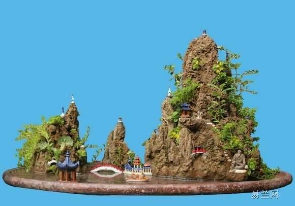 赵庆泉是怎么制作水旱盆景《古木清池》的