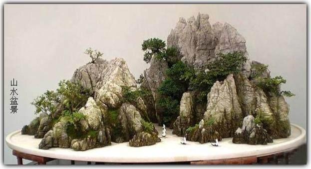 山水盆景怎么布局设计的方法 图片