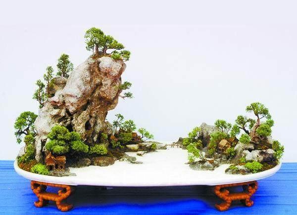 制作山水盆景怎么选择石料的方法