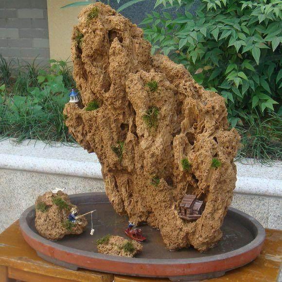 怎么让吸水石盆景快点张出绿苔啊
