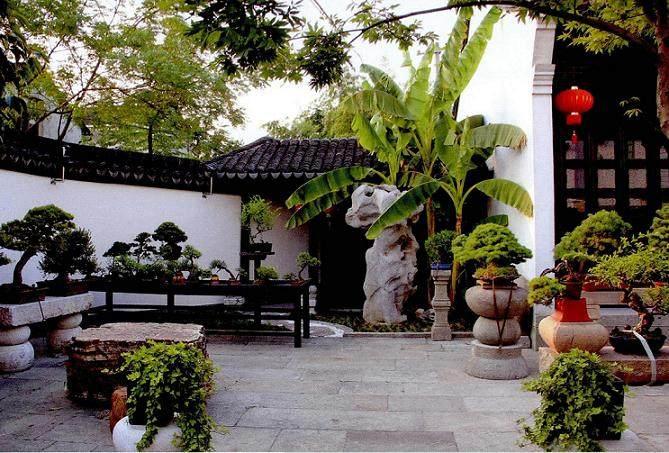 海宁逸趣园为标准的江南庭院式盆景园设计风格