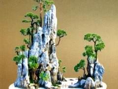 中国盆景艺术大师李云龙的盆景《山居图》