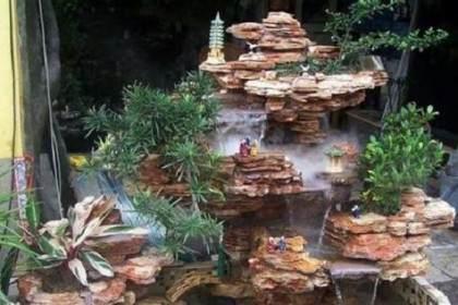 如何制作盆景中的流水瀑布?