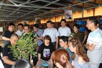 港沿镇开展黄杨盆景造型与展示活动