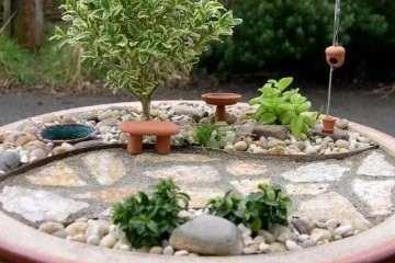 我媳妇是怎么用破花盆制作盆景
