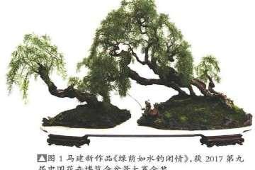 怎么制作仿垂柳型柽柳盆景的方法
