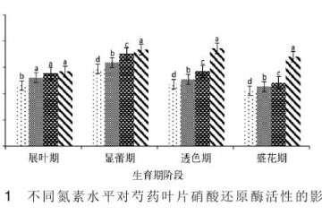供氮水平对盆栽芍药酶活性的影响