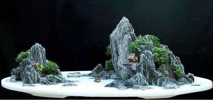 散点石在山水盆景中的4个运用方法
