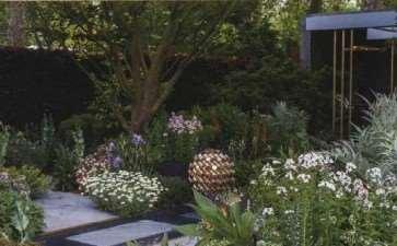 切尔西花卉展览的2个花园作品 图片