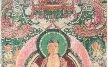 山西高平开化寺壁画中的盆景 图片